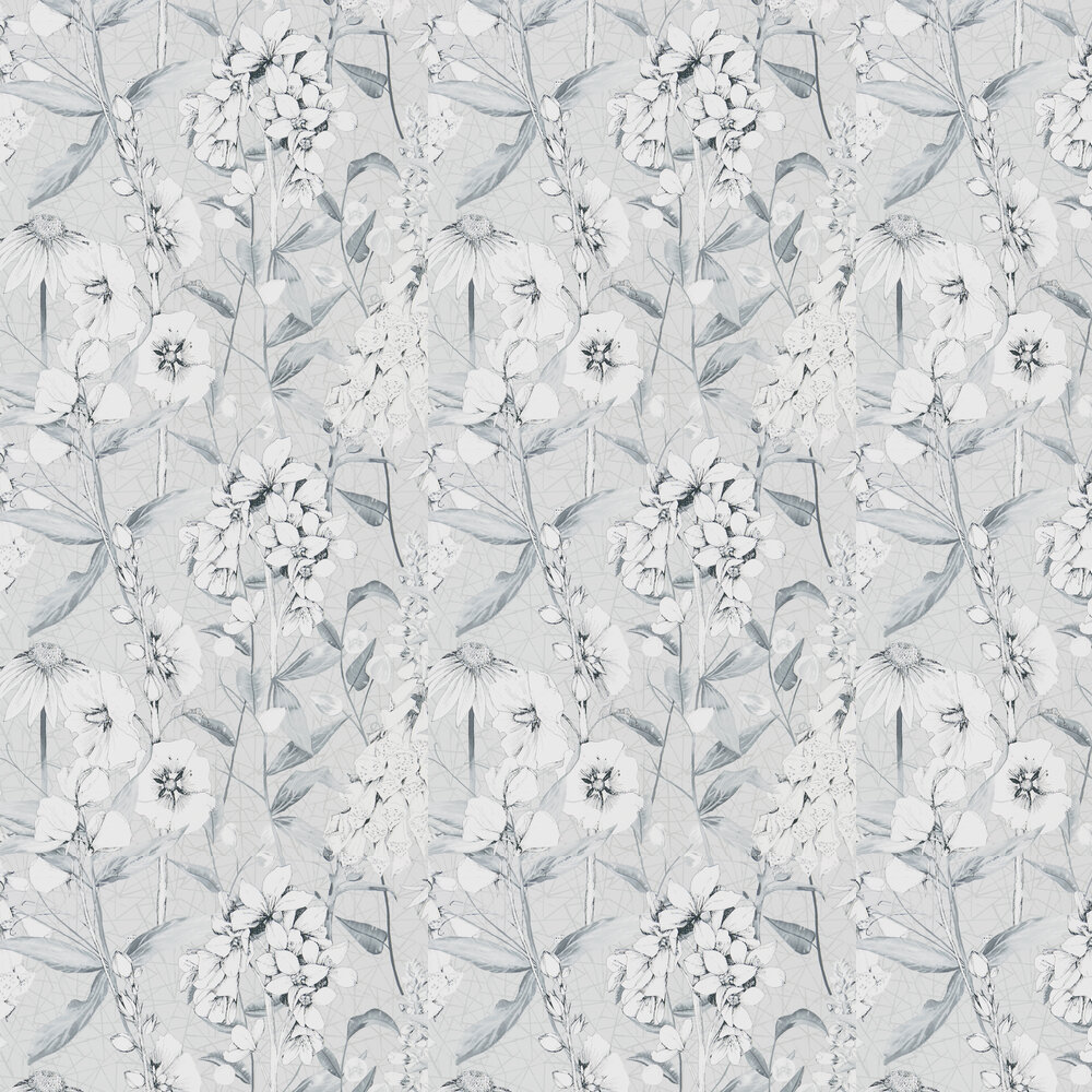 Emilie Wallpaper - Platinum - by Designers Guild
