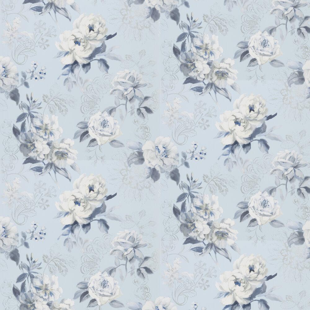 Victorine Wallpaper - Cornflower - by Designers Guild