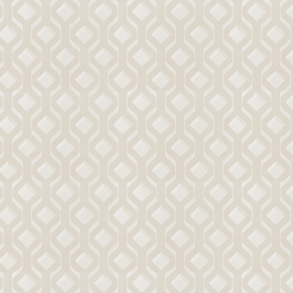 Chareau Flock Wallpaper - Ivory - by Designers Guild
