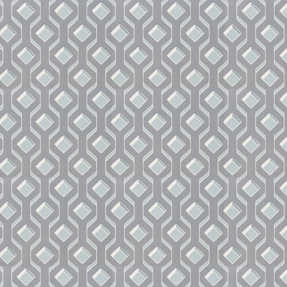 Chareau Flock Wallpaper - Delft - by Designers Guild