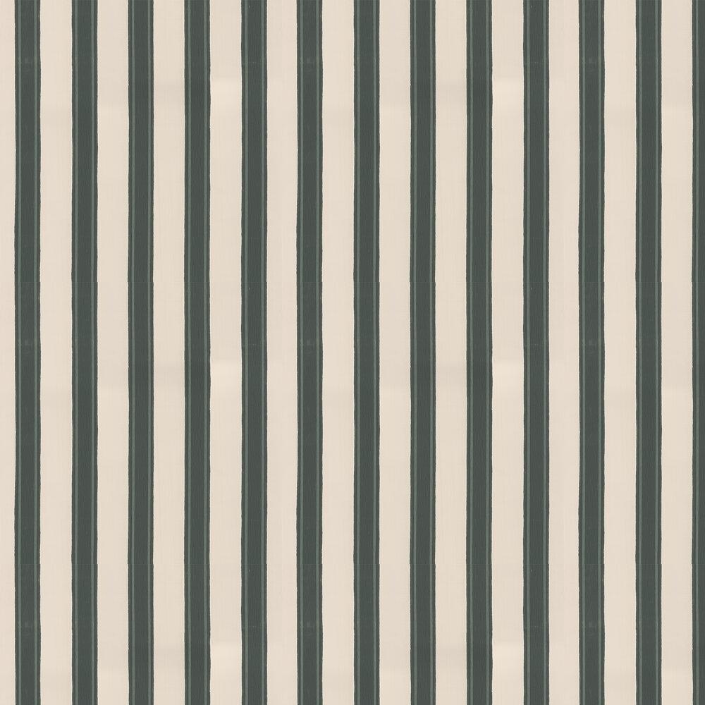 Block Print Stripe Wallpaper - Studio Green - by Farrow & Ball