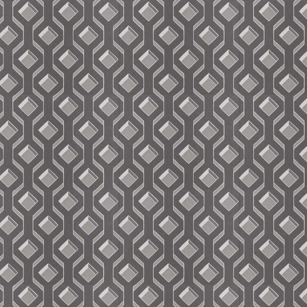 Chareau Flock Wallpaper - Zinc - by Designers Guild