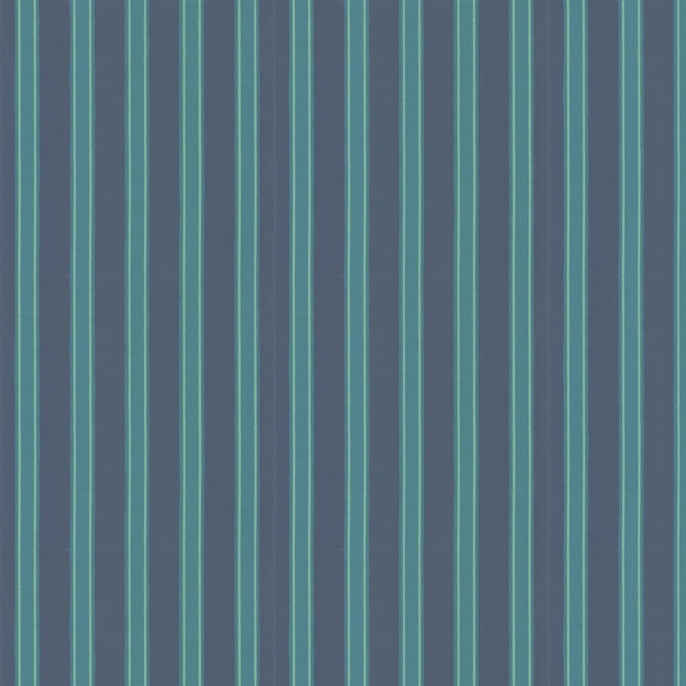 Farrow & Ball Block Print Stripe Arsenic Wallpaper - Product code: BP 770