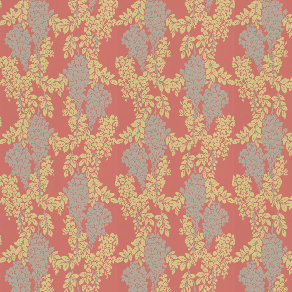 Wisteria Wallpaper - Red Earth - by Farrow & Ball