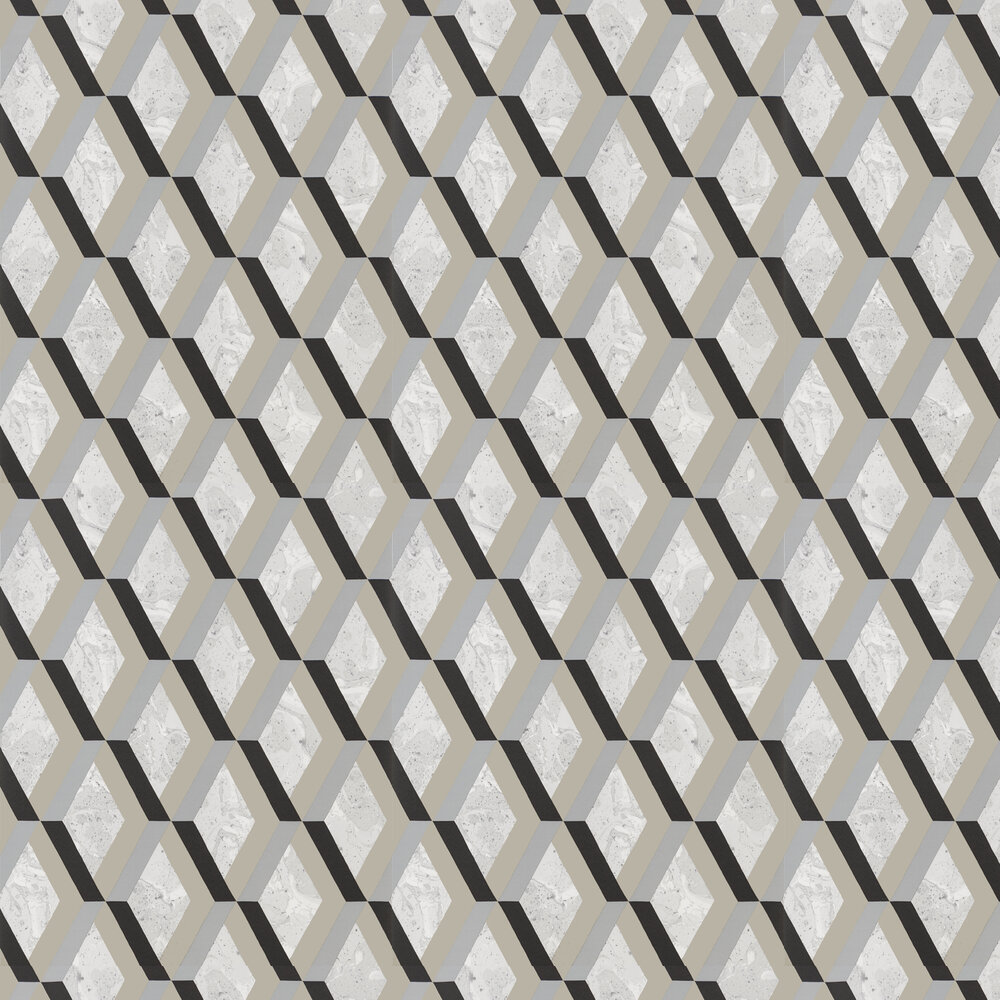 Jourdain Wallpaper - Noir - by Designers Guild