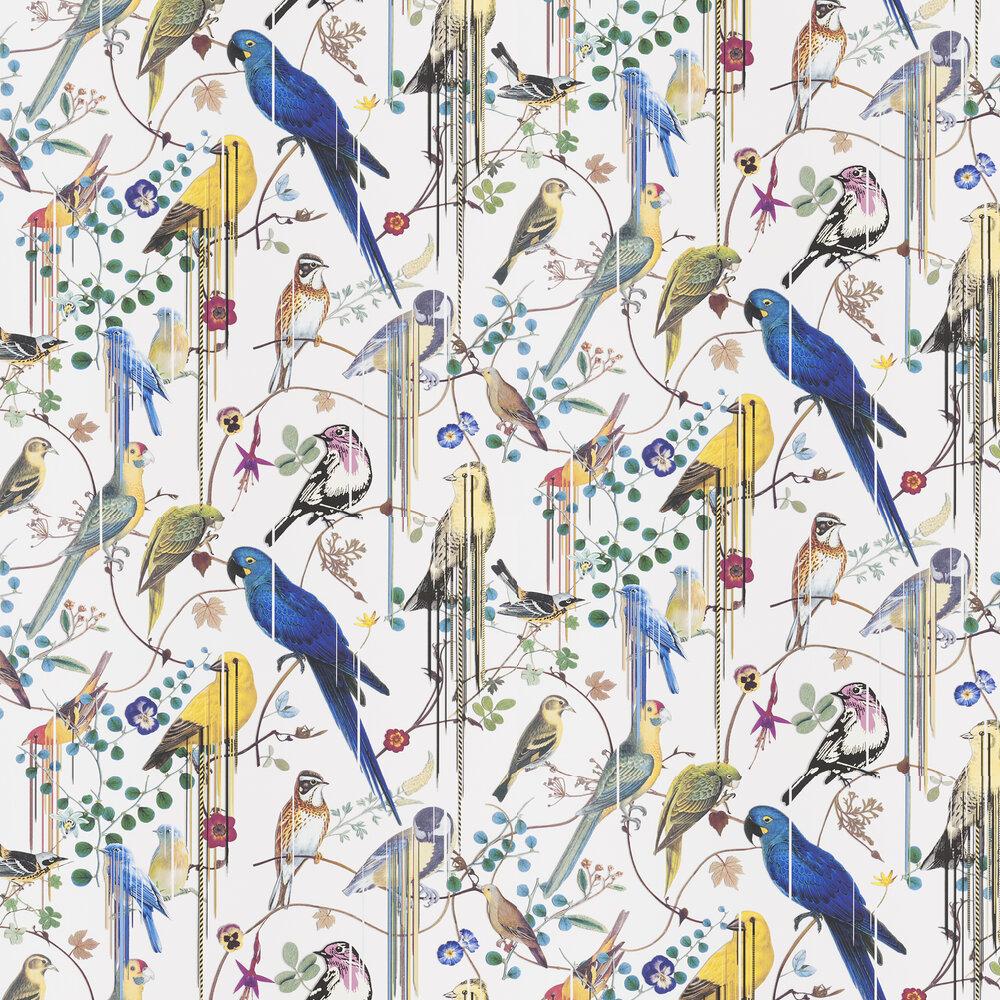 Birds Sinfonia Wallpaper - White - by Christian Lacroix