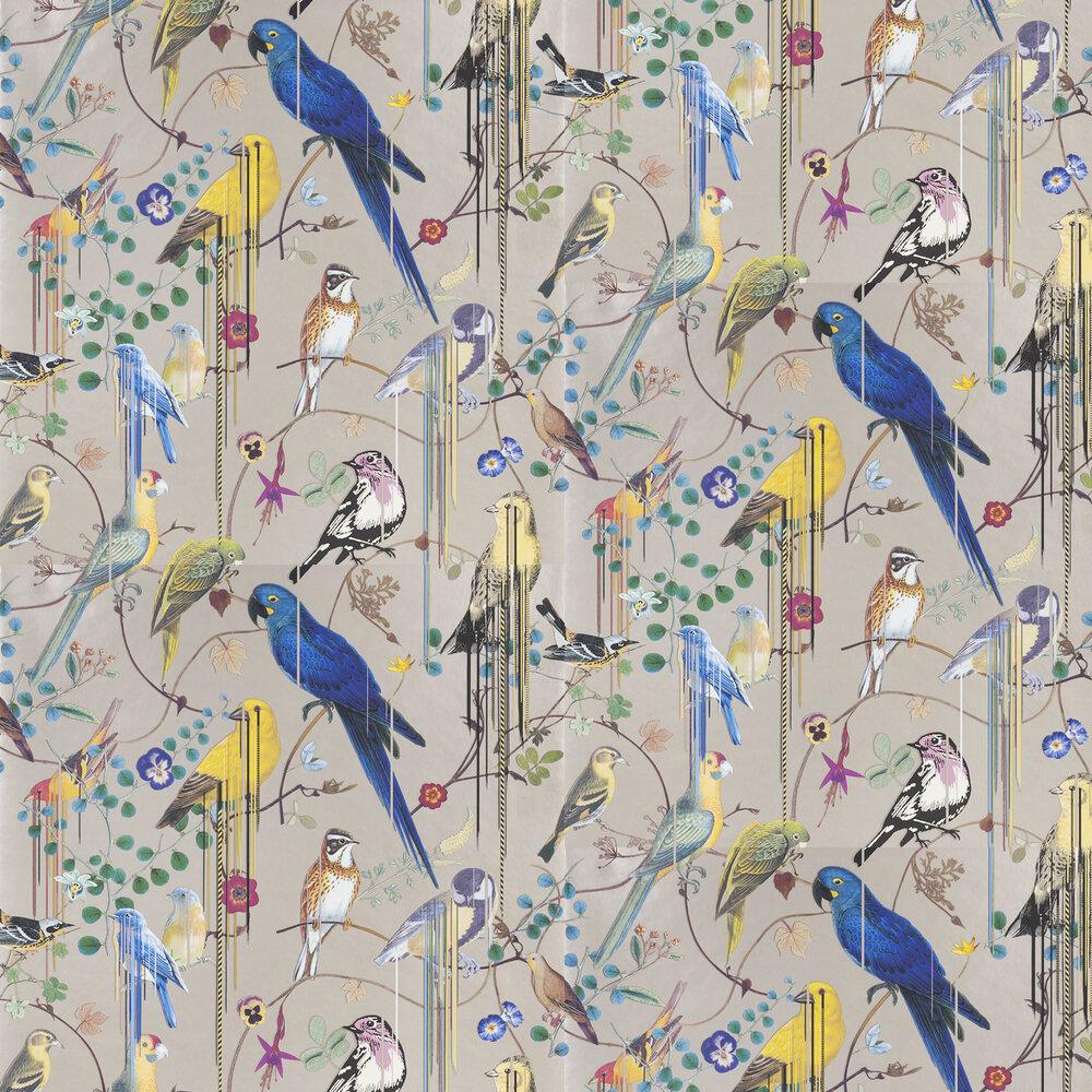 Birds Sinfonia Wallpaper - Copper - by Christian Lacroix