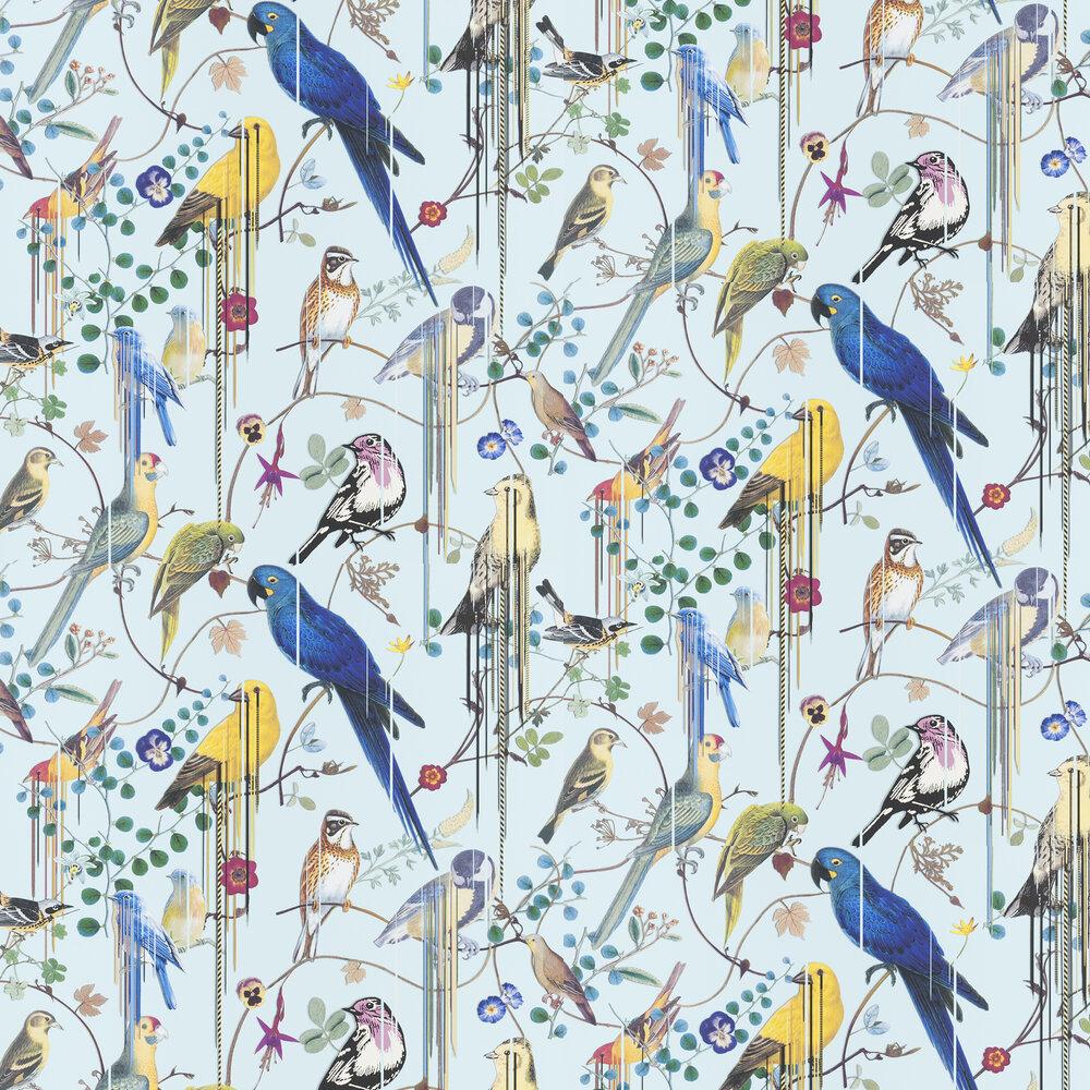 Birds Sinfonia Wallpaper - Pale Blue - by Christian Lacroix
