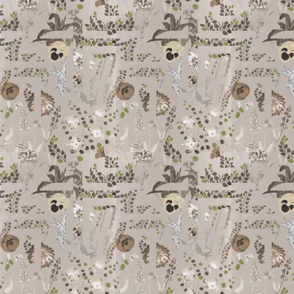 Primavera Labyrinthum Wallpaper - Copper - by Christian Lacroix