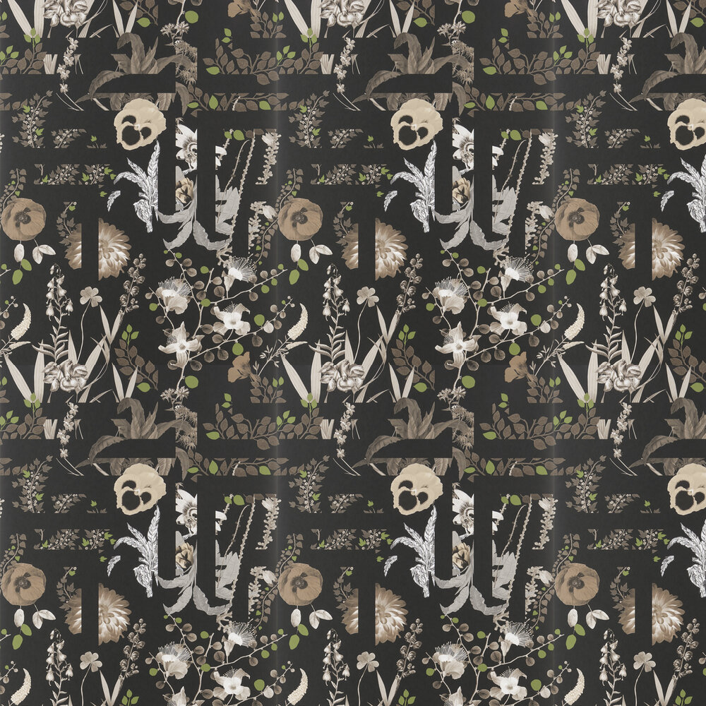 Primavera Labyrinthum Wallpaper - Black - by Christian Lacroix