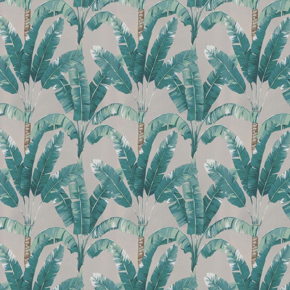 Palmaria Wallpaper - Jade / Gilver - by Osborne & Little