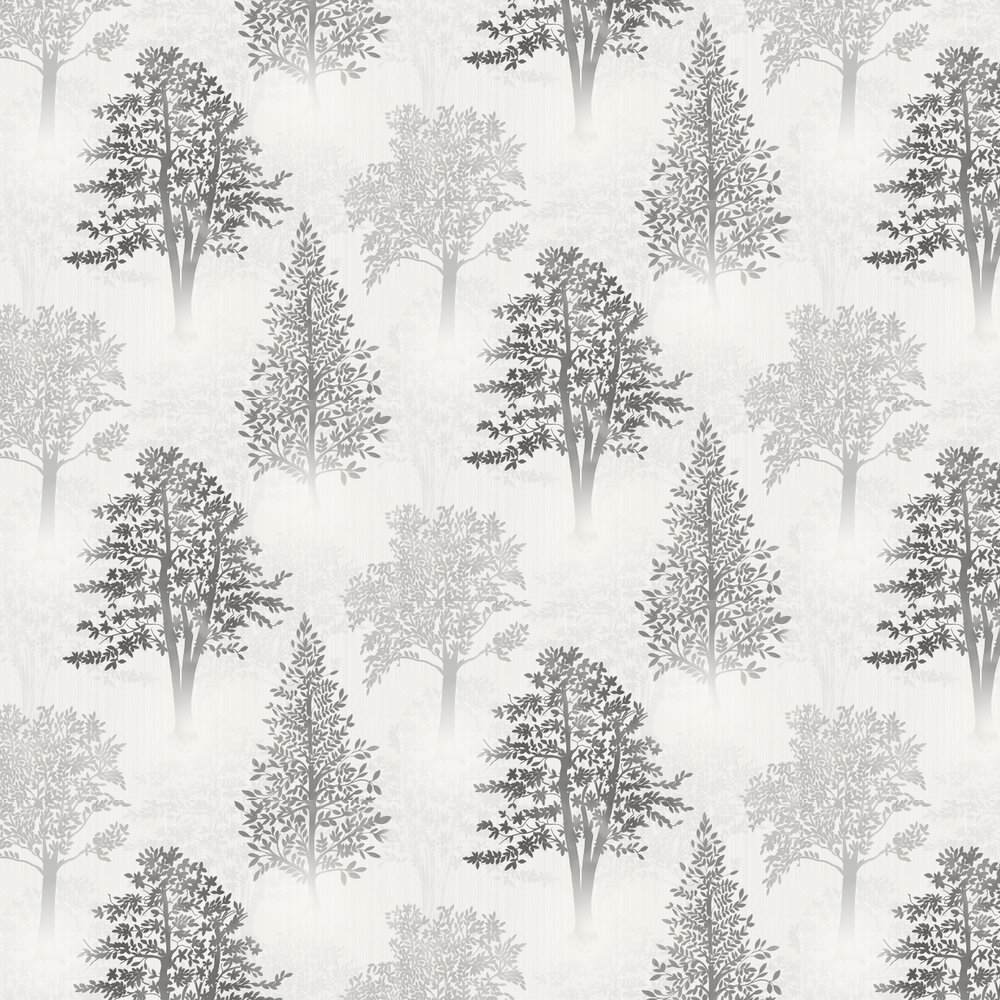 Diamond Tree Wallpaper - Mono - by Arthouse