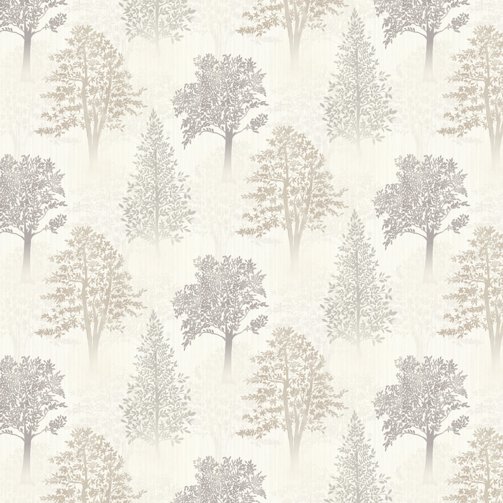 Diamond Tree Wallpaper - Natural - by Arthouse