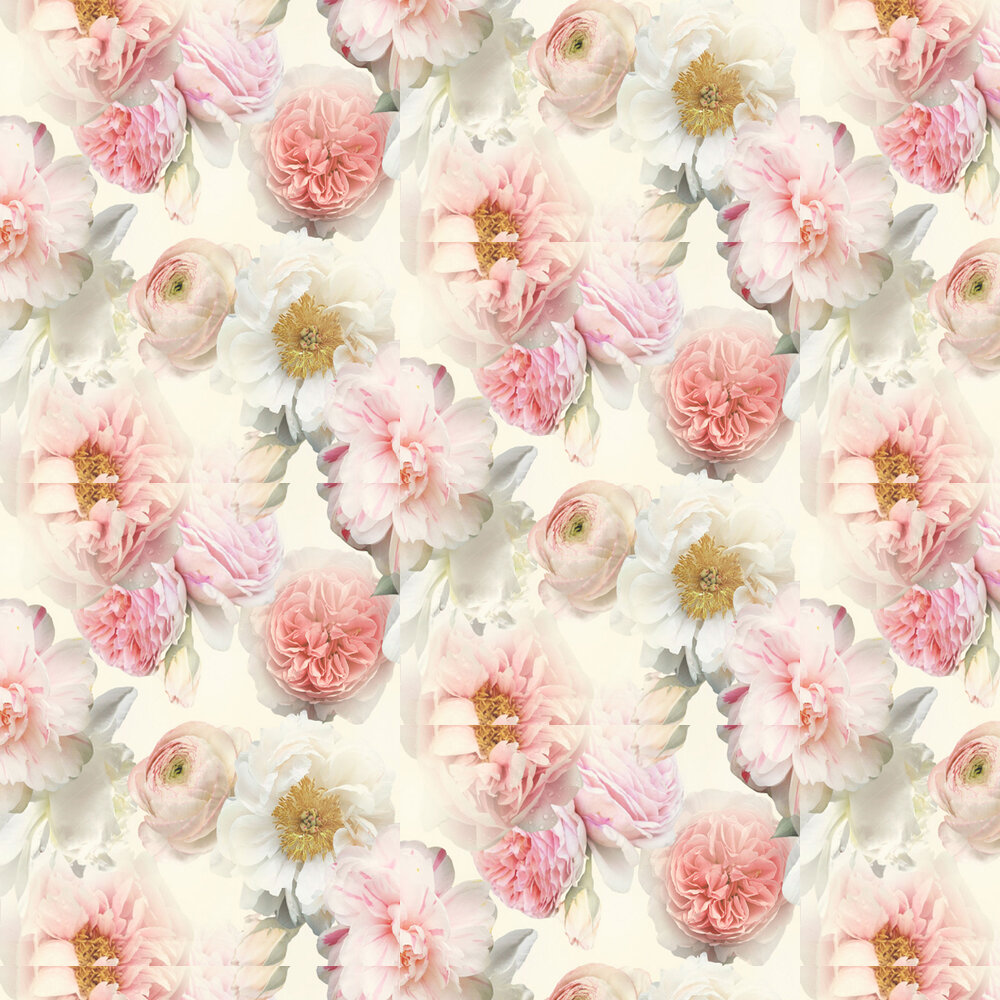 Diamond Bloom Floral By Arthouse Blush Wallpaper Wallpaper