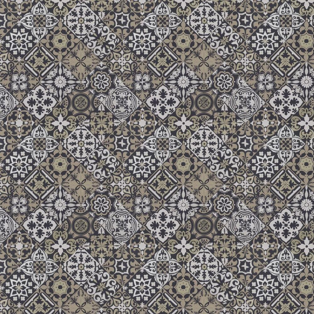Cervo Wallpaper - Black / Gold - by Osborne & Little