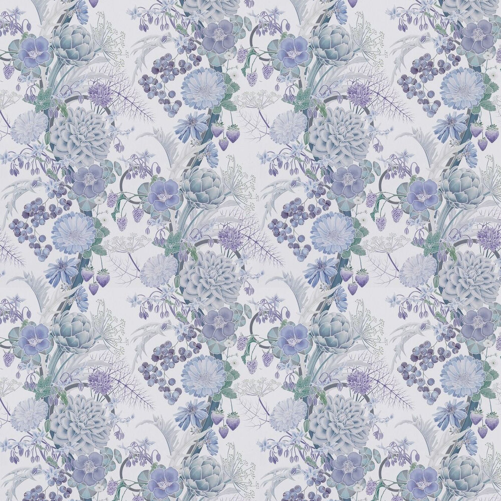Carlotta Wallpaper - Lilac - by Osborne & Little