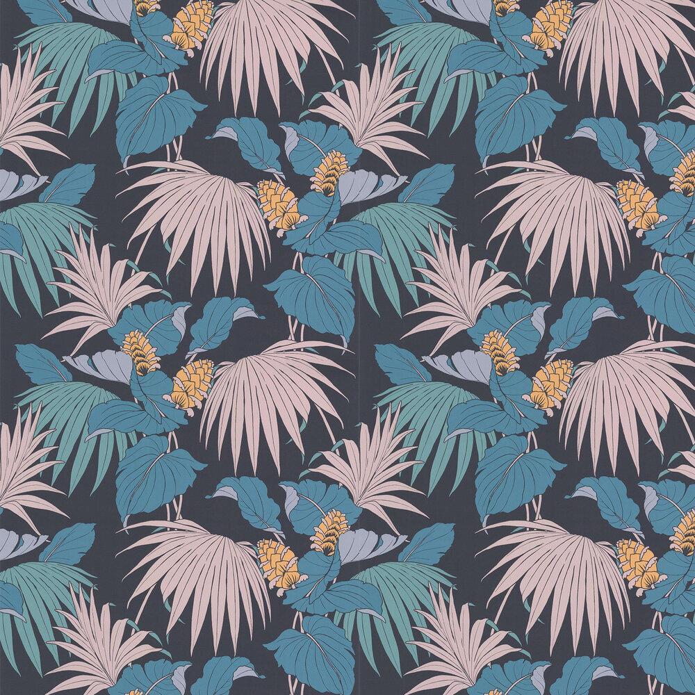 Vernazza Wallpaper - Dark Blue - by Osborne & Little