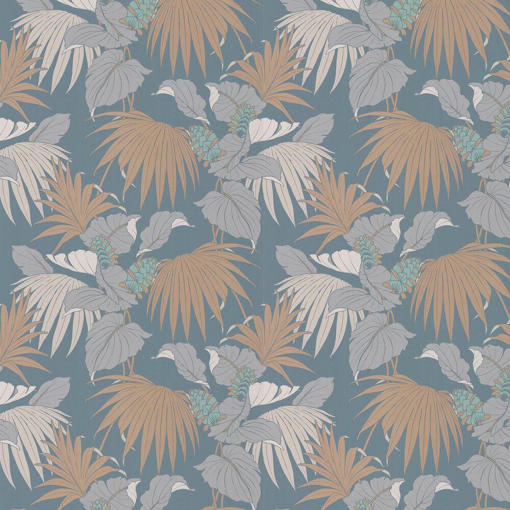 Vernazza Wallpaper - Aqua / Copper - by Osborne & Little