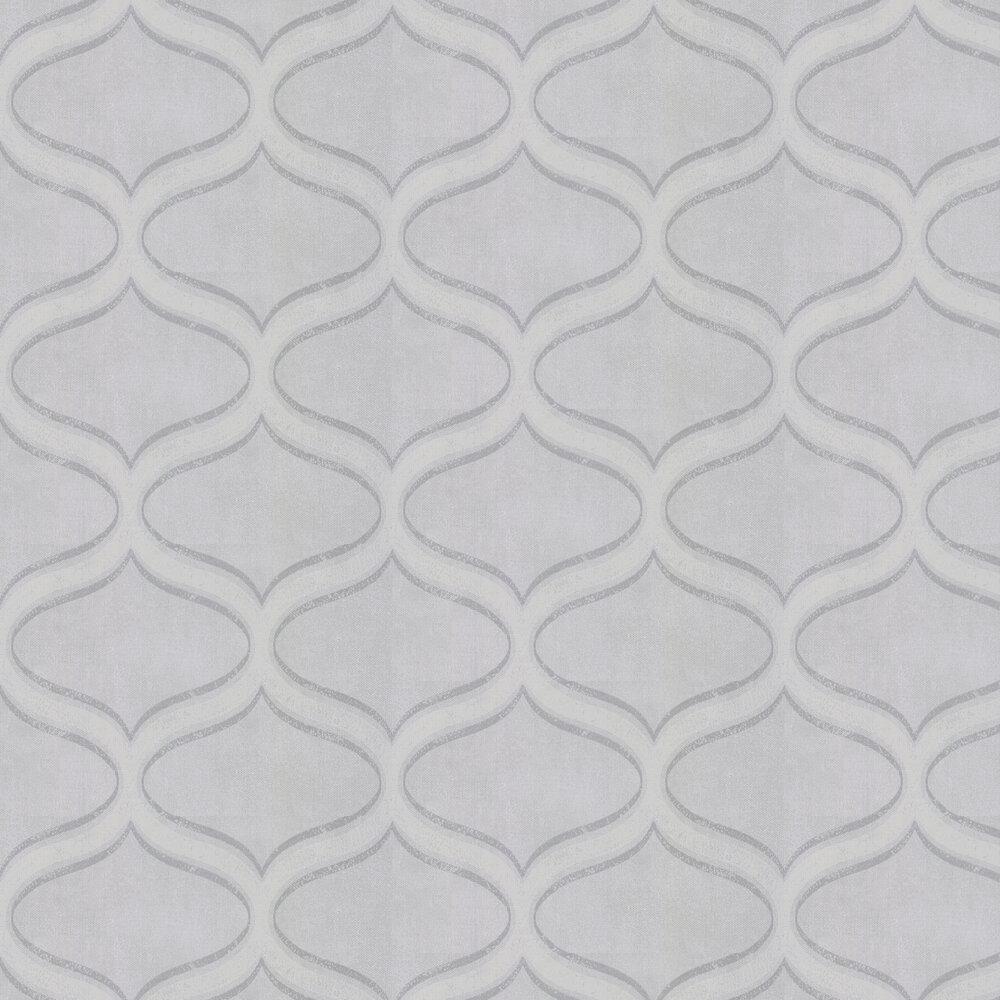 Curve Wallpaper - Silver Shadow Grey - by Prestigious