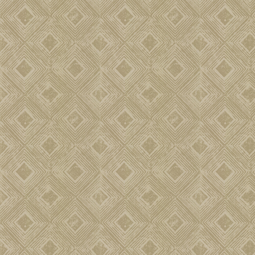 Symmetry Wallpaper - Burnished Gold - by Prestigious