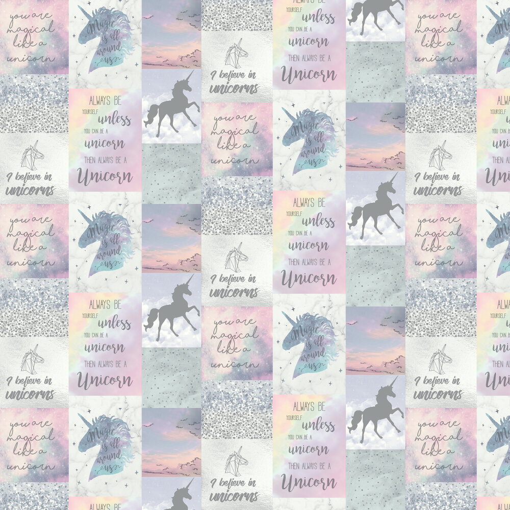 Believe in Unicorns Wallpaper - Multi - by Arthouse