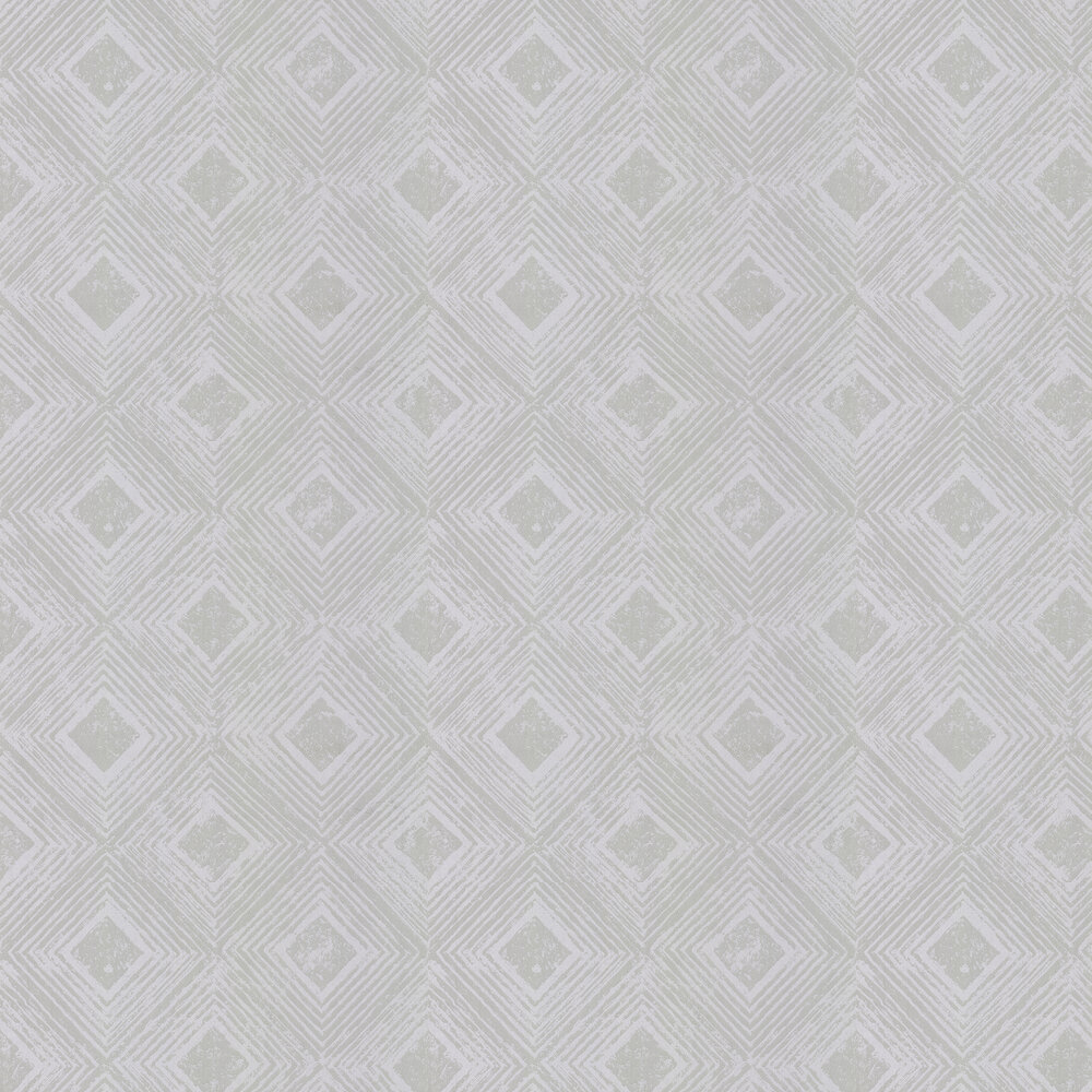 Symmetry Wallpaper - Silver Shadow Grey - by Prestigious