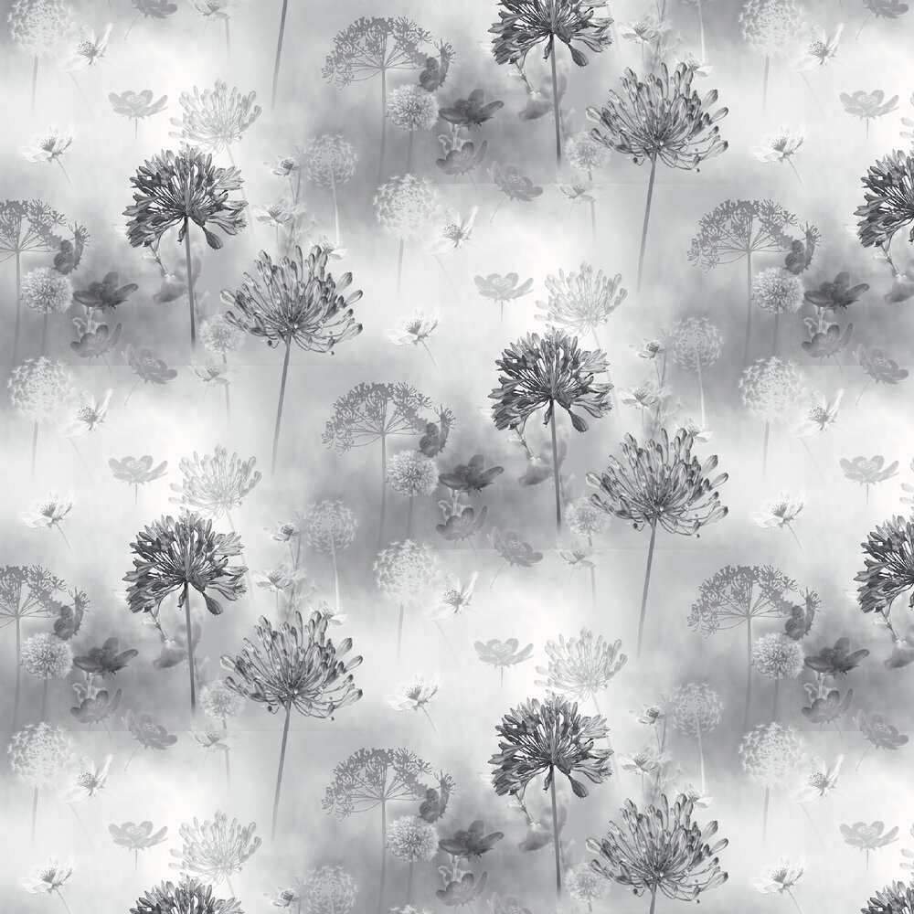 Spring Meadow Wallpaper - Mono - by Arthouse