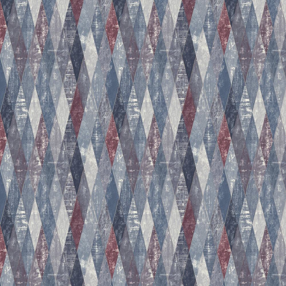 Fontwell Wallpaper - Dark Blue - by Elizabeth Ockford