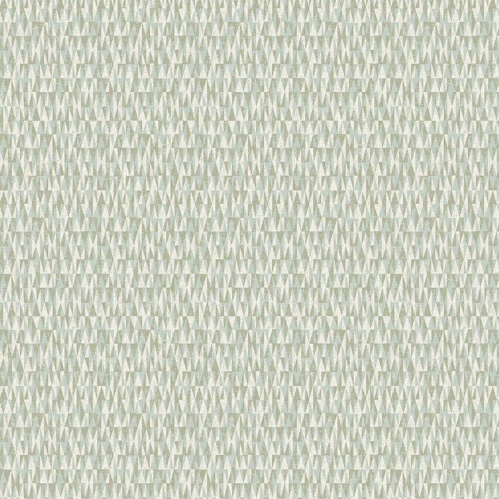Bosham Wallpaper - Aqua - by Elizabeth Ockford