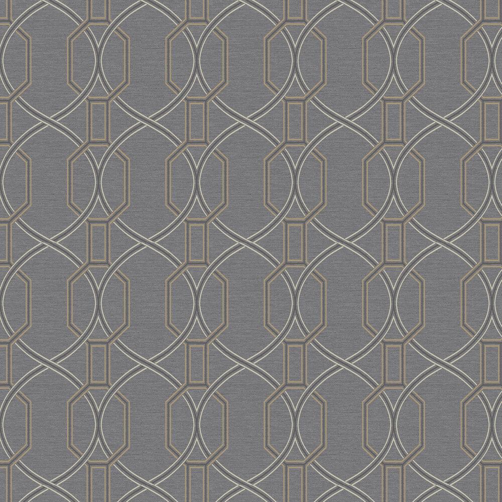 Coleton Wallpaper - Black - by Elizabeth Ockford