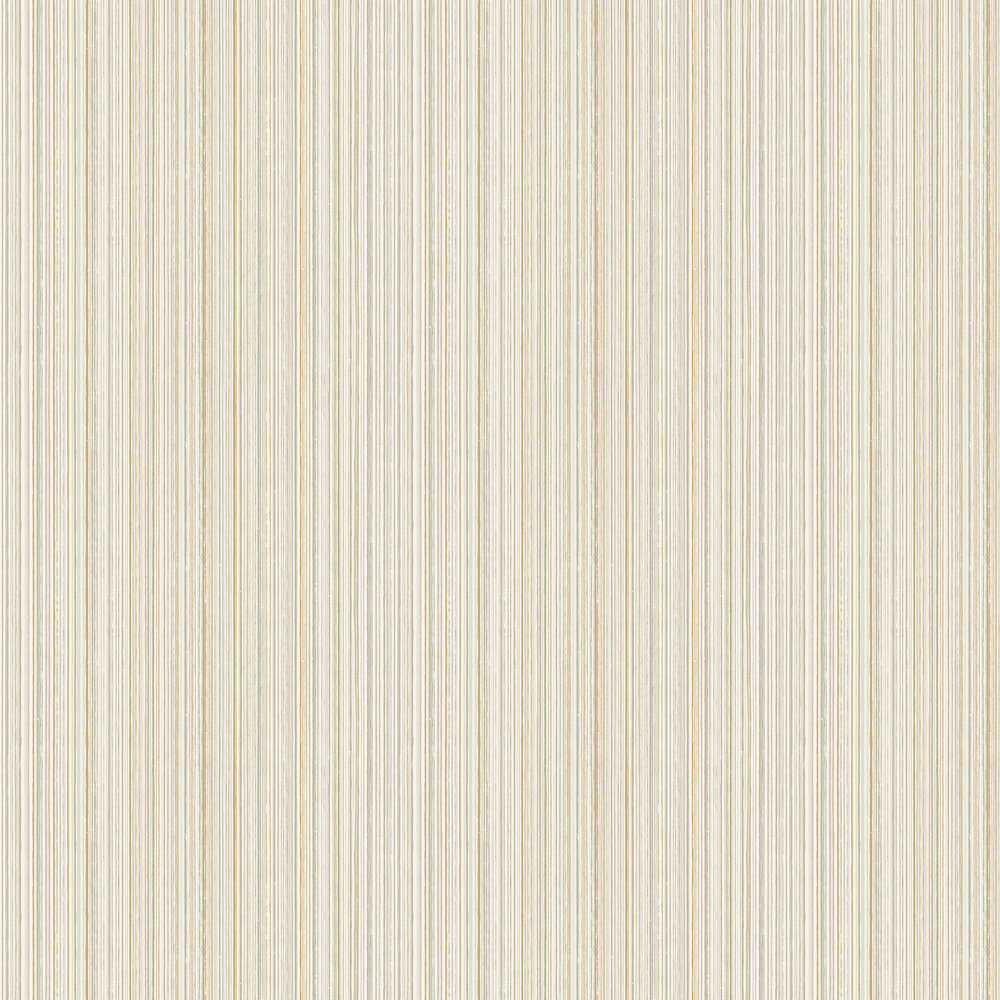 Milne Stripe Wallpaper - Soft Cream - by Elizabeth Ockford