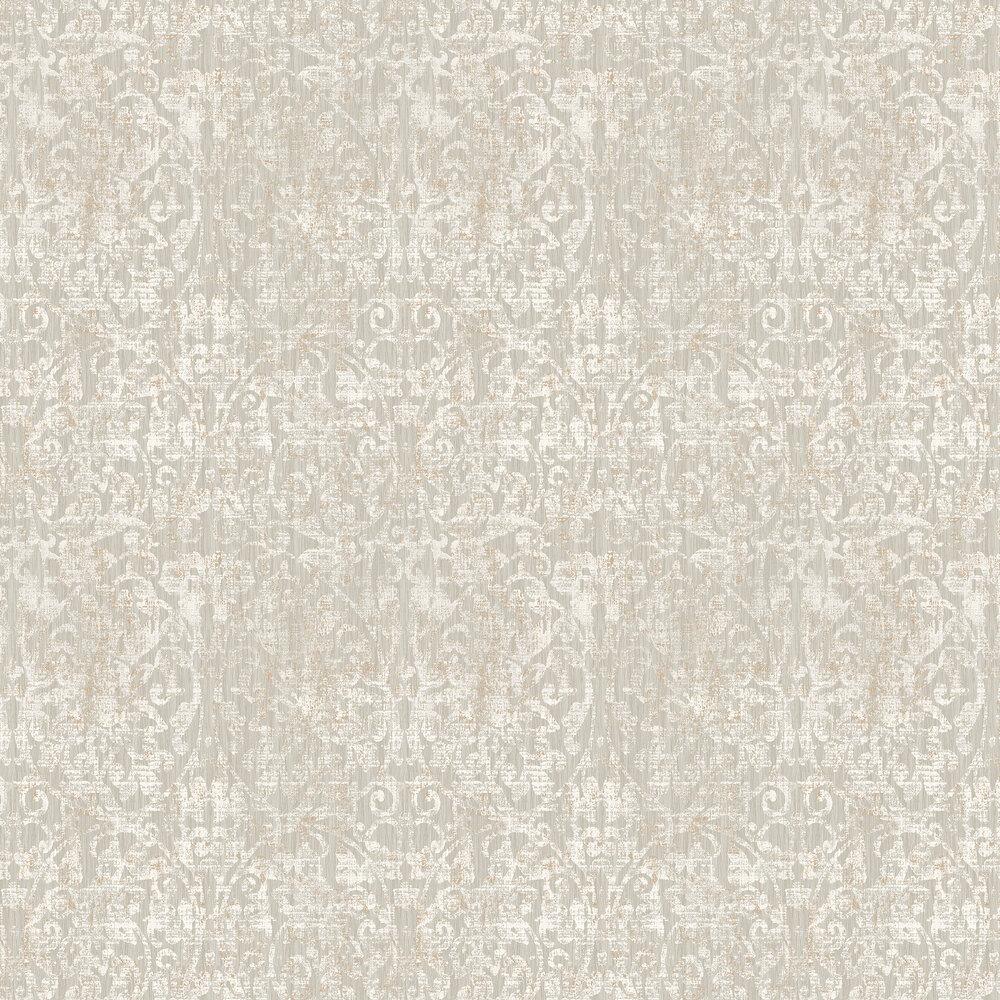 Elizabeth Ockford Hurst Damask Oyster Wallpaper - Product code: WP0131001
