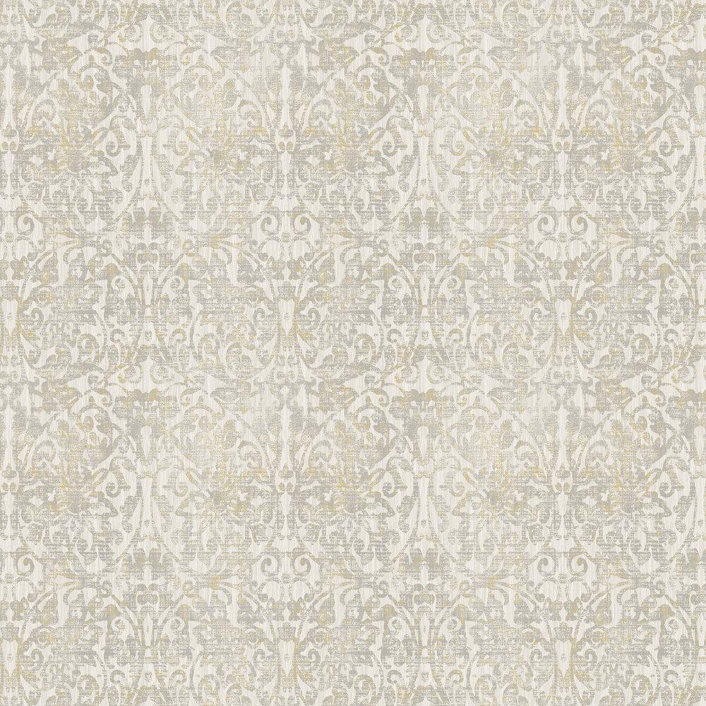 Elizabeth Ockford Hurst Damask Warm Grey Wallpaper - Product code: WP0131003