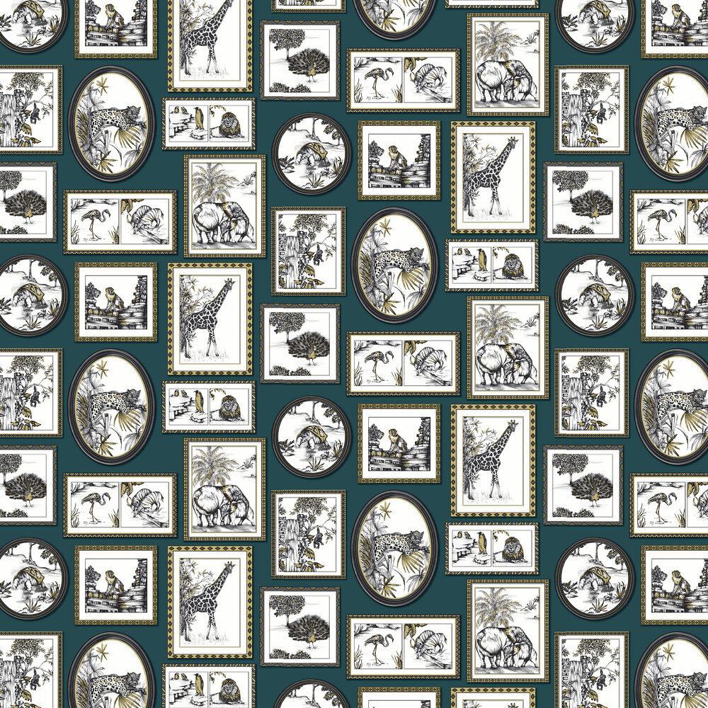 Savanah Gallery Wallpaper - Teal - by Albany