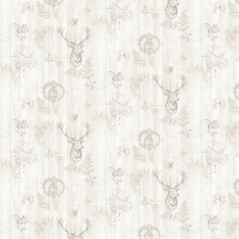 Chatsworth Wallpaper - Cream - by Albany