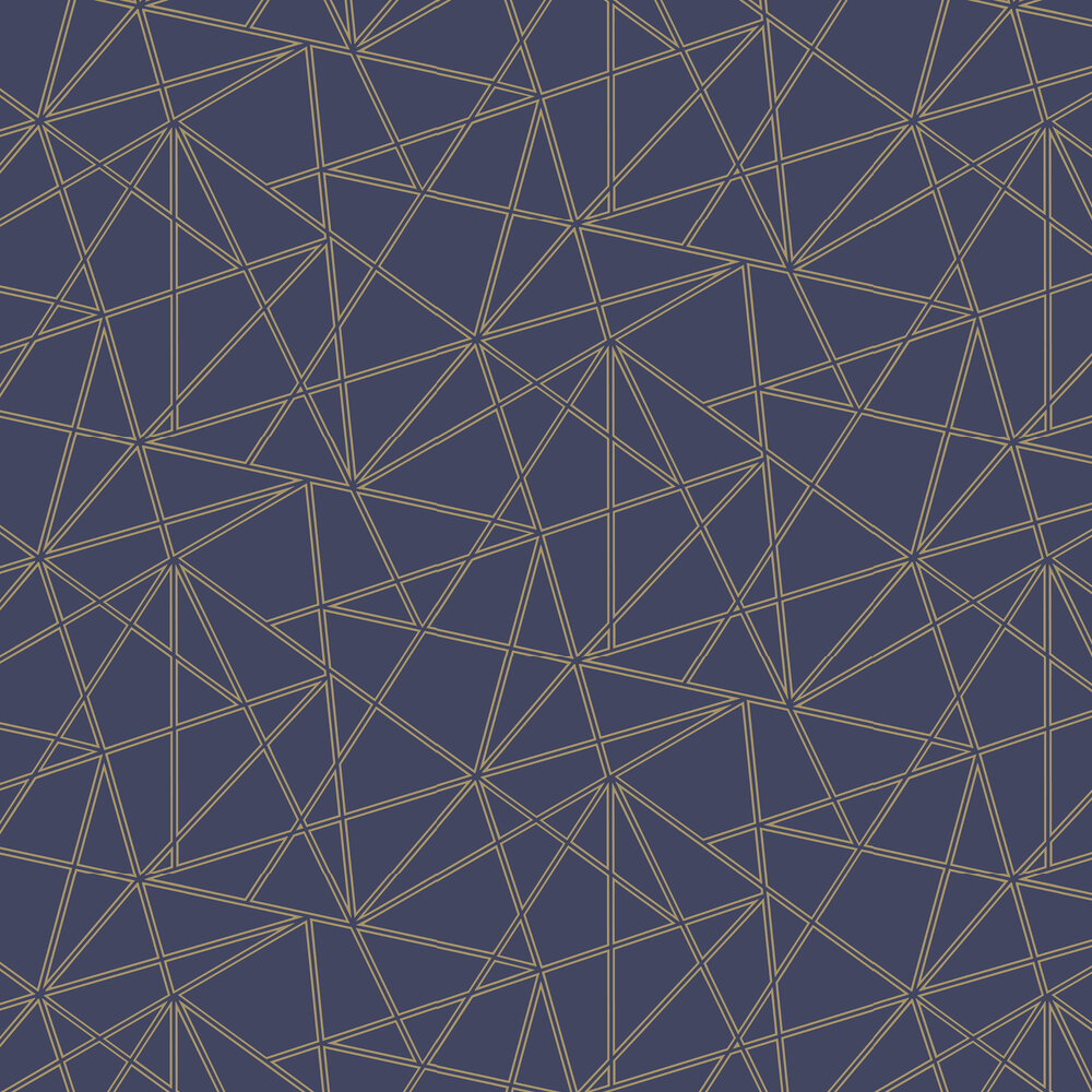 Omega Wallpaper - Navy and Gold - by Albany