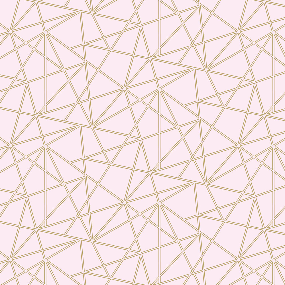 Omega Wallpaper - Dusky Pink and Gold - by Albany