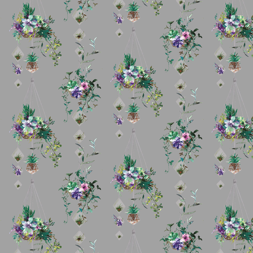 Botany Wallpaper - Grey - by Albany