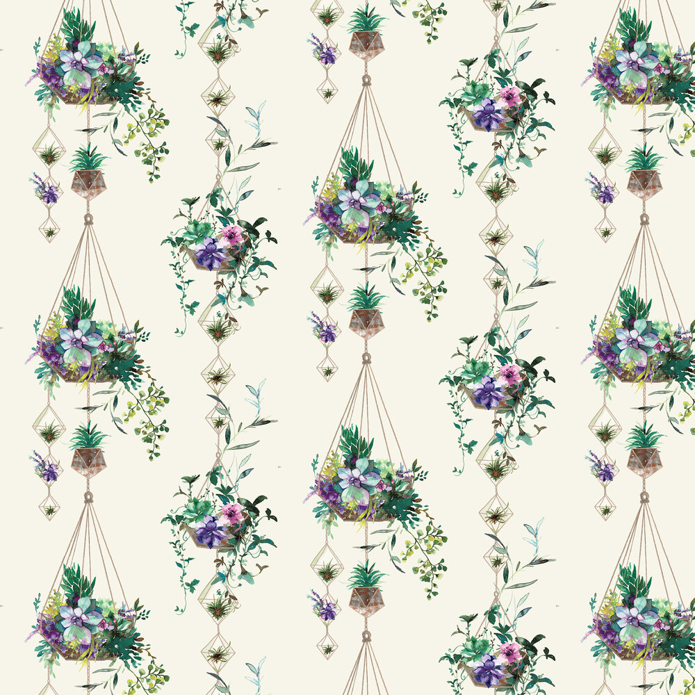 Albany Botany White Wallpaper - Product code: 90341