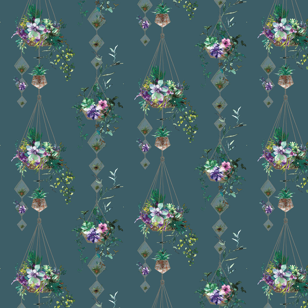 Albany Botany Teal Wallpaper - Product code: 90342
