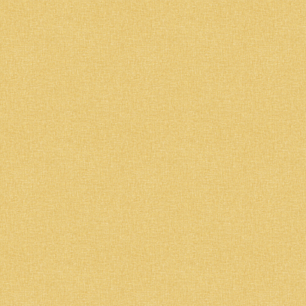 Linen Texture Wallpaper - Ochre - by Arthouse
