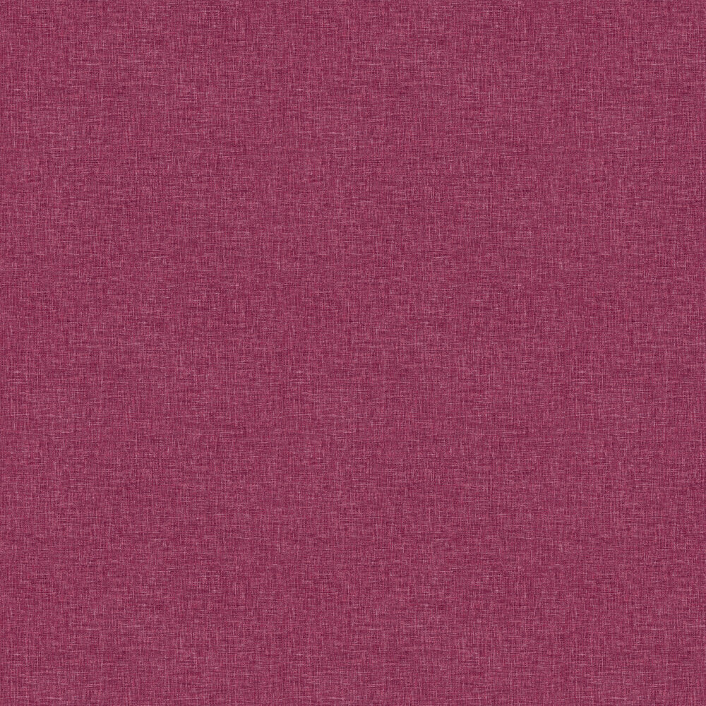 Linen Texture Wallpaper - Raspberry - by Arthouse