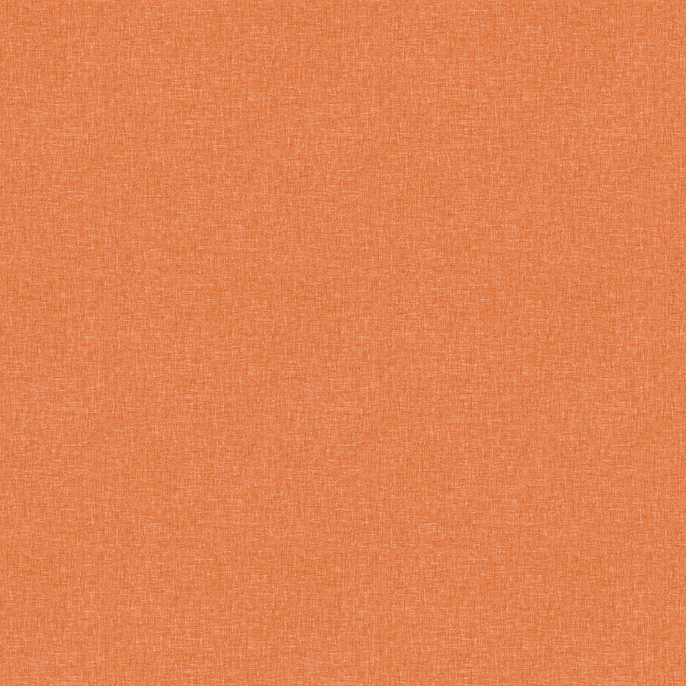 Linen Texture Wallpaper - Orange - by Arthouse