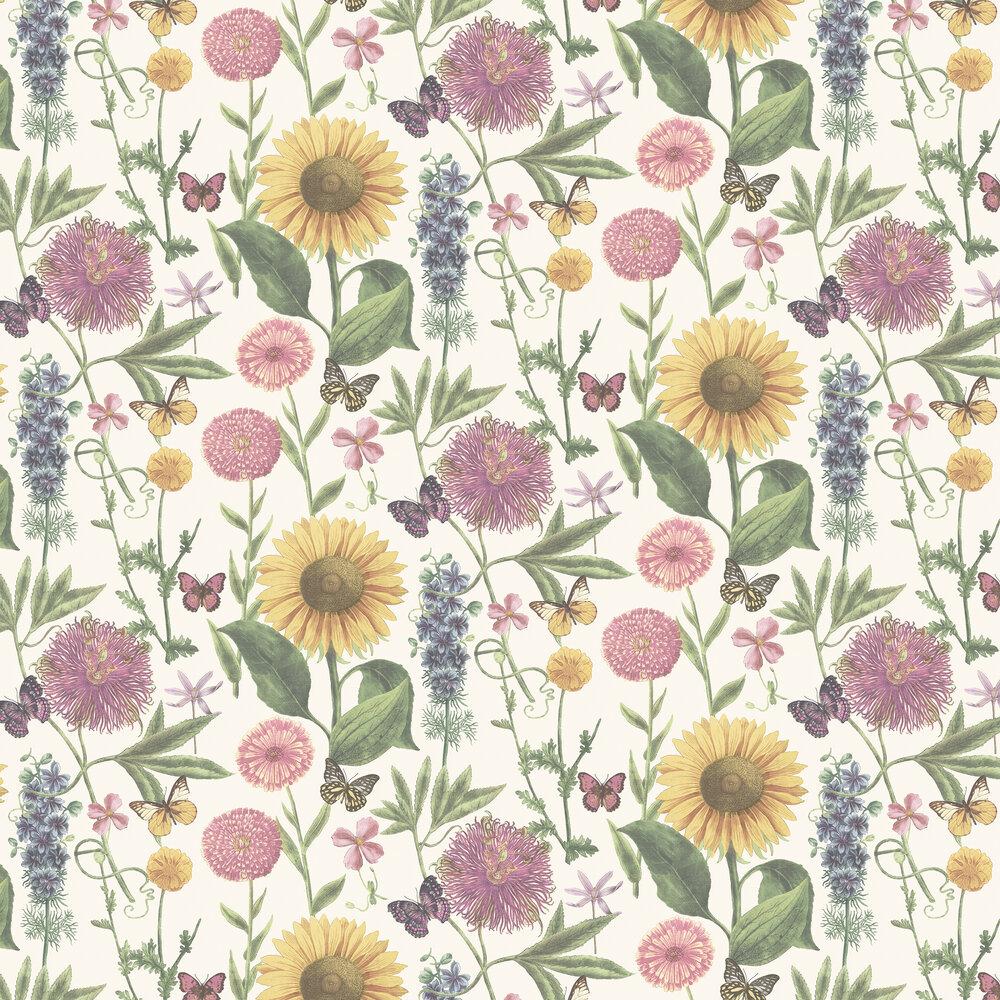 Arthouse Summer Garden White Wallpaper - Product code: 676205