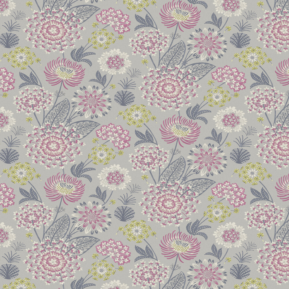 Vintage Bloom Wallpaper - Raspberry - by Arthouse