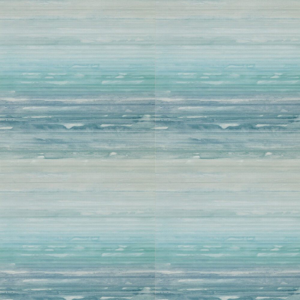 Elements Wallpaper - Aqua and Mist - by Anthology