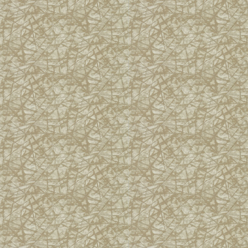 Shatter Wallpaper - Ochre and Cream - by Anthology
