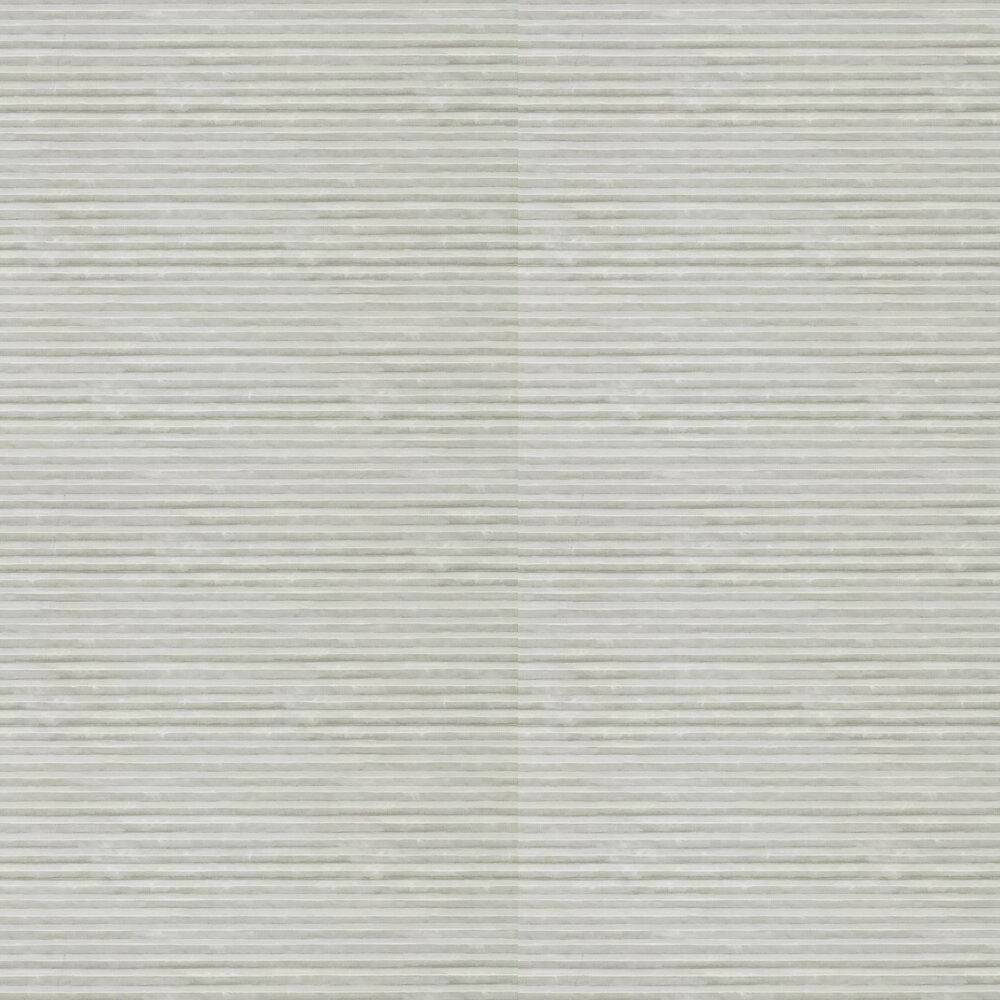 Hibiki Wallpaper - Zinc and Silver - by Anthology
