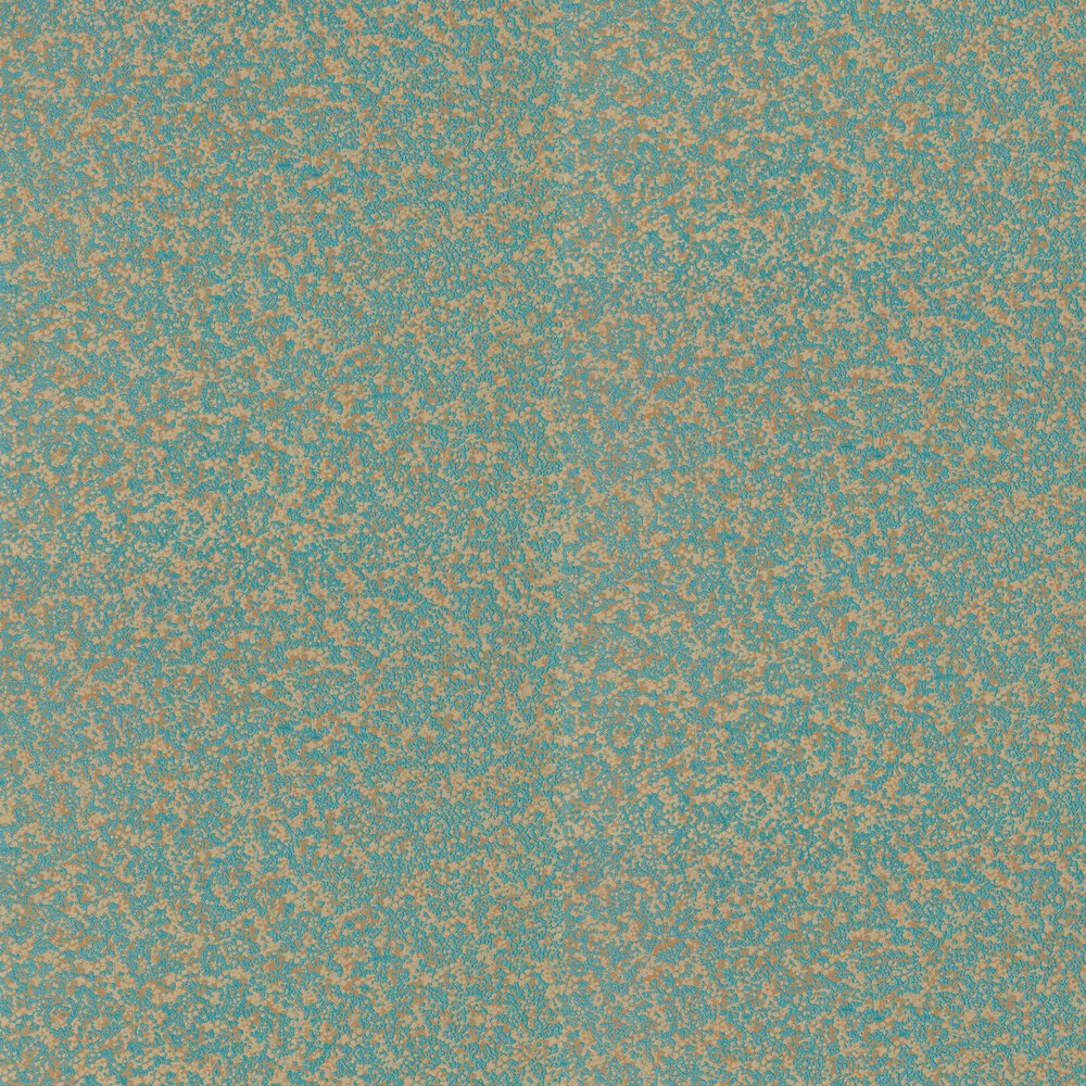Coral Wallpaper - Teal and Gold - by Anthology