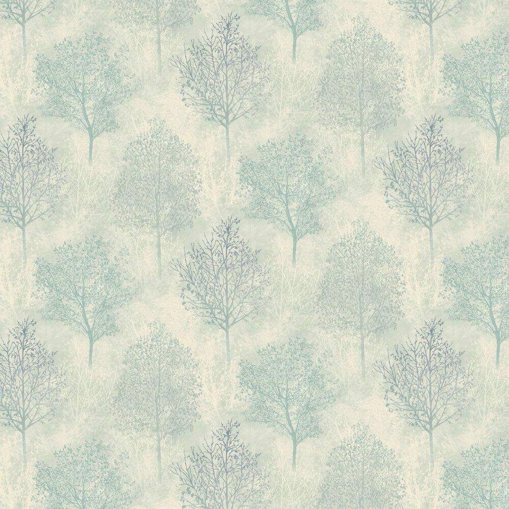 Arthouse Silva Woods Cream / Teal Wallpaper - Product code: 698102